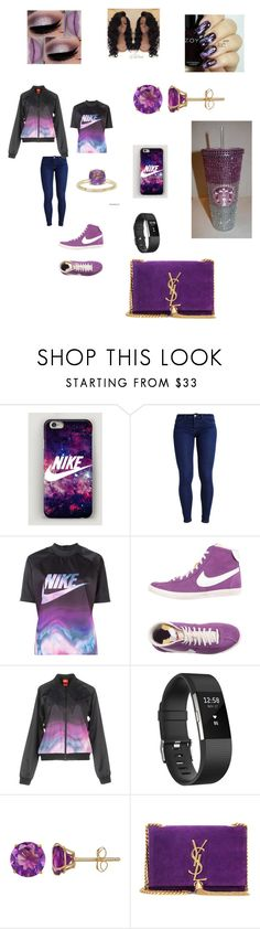 """""""School daze"""" by whitmo on Polyvore featuring NIKE, Fitbit, Everlasting Gold, Yves Saint Laurent, Zoya and Gioelli"""