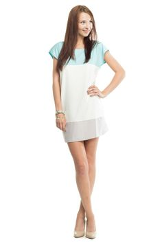 Colorblock Dress with Zippers