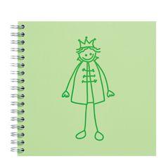 PRINCE Notebook, plain, 5,2 x  14,8 cm Green light