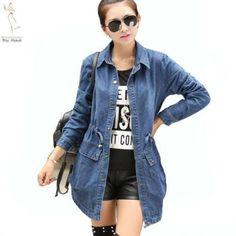 casaco sobretudo jeans feminino