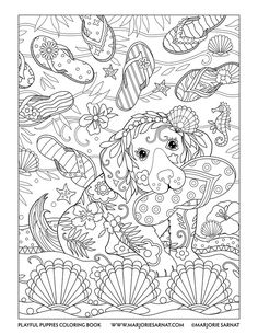 Marjorie Sarnat Coloring Pages - Bing images Fox Coloring Page, Summer Coloring Pages, Horse Coloring Pages, Free Adult Coloring Pages, Cute Coloring Pages, Doodle Coloring, Mandala Coloring Pages, Coloring Pages To Print, Free Printable Coloring Pages