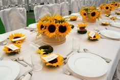 Sunflowers - Like the sunflower used as place card application