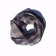 Buffalo Plaid- Grey Infant/Toddler Infinity Scarf