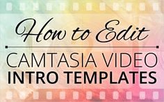 Last week Nicholas Park Romney Brown joined Andrew Townsend in a webinar showing how to edit an intro template. You can watch a recording of this webinar in this weeks blog.