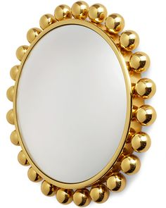 This convex mirror with a brass frame from Italian designer Piero Fornasetti  has been newly reissued in the United States. Elle Decor says this product is hot this month!