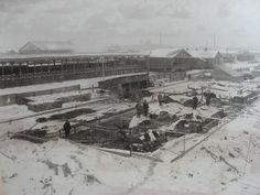 Начало сооружения Петербургской станции Императорских поездов.