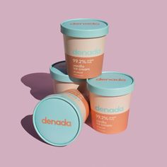 Branding and Packaging for Sugar Free Ice Cream Company - World Brand Design Medical Packaging, Food Packaging, Brand Packaging, Bottle Packaging, Packaging Ideas, Cosmetic Packaging, Ice Cream Companies, Ice Cream Brands, Corporate Design