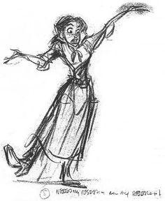 Glen Keane's production art – featuring Jane! – for Disney's Tarzan.