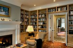 always wanted a library for all my books!! Some day! A good book, roaring fire, glass of a good Merlot, old comfy clothes with some good smells wafting from the kitchen, and snow falling outside.