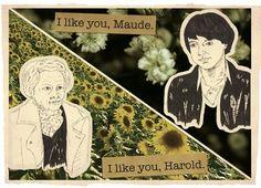 harold & maude digital collage print