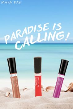 Enjoy a bit of paradise with three new, bold colors! Try Exotic Orchid, Tropical Mandarin, and Sunbaked today for the right pop of color to feel like you are on vacation. | Mary Kay