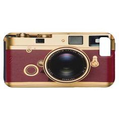 Golden Retro Camera iPhone 5 Case
