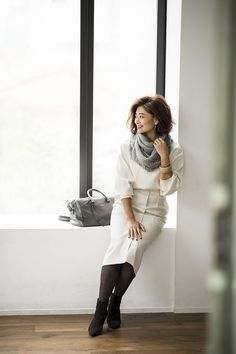 Maxi Pencil Skirt, Pencil Skirt Outfits, Real Style, Your Style, Style Me, Vogue, Knit Skirt, Office Outfits, White Style