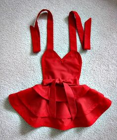 Little red riding hood inspired retro apron