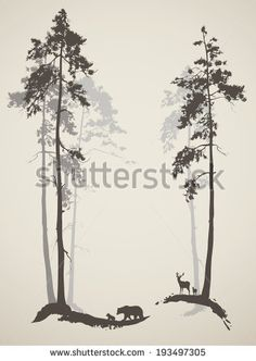 Pine Trees Silhouette Stock Photos, Pine Trees Silhouette Stock Photography, Pine Trees Silhouette Stock Images : Shutterstock.com