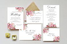 Wedding Invitation floral wedding invitation printable set floral wedding invitation save the date  print details rvsp thank you custom by S4StarSbySiSSy on Etsy https://www.etsy.com/ca/listing/400374791/wedding-invitation-floral-wedding