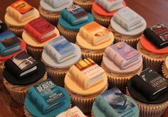 Cupcakes Take The Cake: Hodder Books custom book cover cupcakes (Books are good for digestion, lol!)
