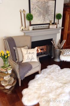 We 2 Ladies had fun decorating this mantel. We are forever dreaming of a 2 Ladies summer vacation. This fun stack of books from HomeGoods says it all: Paris, London, New York! They all sound good to us! The old city map of Paris hung above the mantel reveals our choice. We can't resist shopping the Paris flea market. We also placed symmetrical topiary trees from HomeGoods on the mantel for color and texture. All these decorating ideas will inspire us to maybe take a trip this summer…