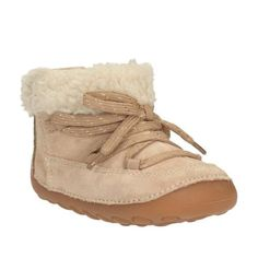 71c58182d Clarks PW Little Moon Boot in Desert Taupe. Moon Boots