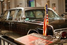 1961 Lincoln Limousine in which President John F. Kennedy was assassinated on Nov. 22, 1963. It is now on display at the Henry Ford Museum in Dearborn, MI.