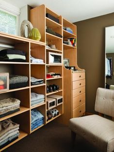 From walk-in to reach-in to wardrobes, learn about all of the different choices you have to work with
