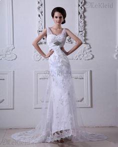Romantic Ganzfigur Perlenbesetzt Empire Taille Volle Länge Korsett Brautkleid