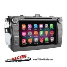 312,94€ - ENVÍO SIEMPRE GRATUITO - Consola Ordenador de a Bordo DVD GPS 2G RAM 1024*600 Quad Core Bluetooth Para Toyota Corolla 06-11 - TUTIENDARACING