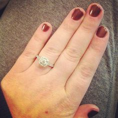 my gorgeous engagement ring!!! =) 1.00 ct peoples jewellers cushion - Gorgeous, Miranda! So Happy for you!
