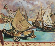 The Barques at the Port in Bessin, 1907. Louis Valtat