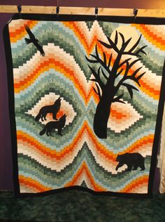 finished 2/14/2015 Bargello & Applique