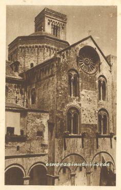 1932 BARI -  La cattedrale - altro in Pugliaed in Bianco e nero