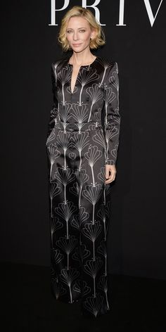 Cate Blanchett in a printed Armani one-piece. Celebrity Outfits 8f8b62136