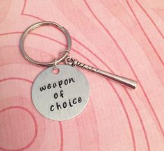Baseball Bat Weapon Of Choice Keychain Weapon by LulusStampings