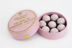 Charbonnel et Walker make England proud for producing some of the prettiest truffles around ...this pink champagne box is sure to set anyone's heart aflutter ( love note and champers not included) < 3