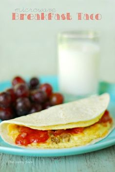 Microwave Breakfast Taco