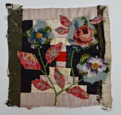 Thread and Thrift: Log cabin flowers