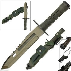 Deception Fixed Blade Combat Military Bayonet Style Tactical Survival Knife