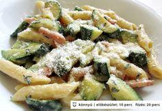 Cukkinis carbonara Ravioli, Penne, Gnocchi, Pasta Salad, Potato Salad, Potatoes, Ethnic Recipes, Food, Meal