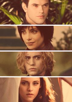 Emmett, Alice, Jasper and Bella...