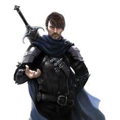 Human, male, sword
