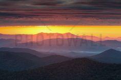 Purple Haze Sunrise blue ridge Mountains - Wall Mural & Photo Wallpaper - Photowall