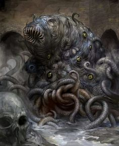 Lovecraft, At The Mountains of Madness Dark Fantasy, 3d Fantasy, Fantasy Monster, Monster Art, Hp Lovecraft, Lovecraft Cthulhu, Call Of Cthulhu, Arte Horror, Horror Art
