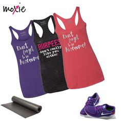 We reinvented our #burpees tank and brought #dontforgettobeawesome into our arsenal! These tanks really ignite feelings in those wearing them as well as those reading them in your class! Bring the awesome and some burpee humor, as we all know we need to laugh about those at times! #tuesdaymotivation #burpeesdontreallylikeyoueither