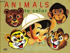 Coloring Book~Animals to Color - peapup 6 - Picasa Web Albums Animal Coloring Pages, Coloring Book Pages, Printable Coloring Pages, Baby Clip Art, Heart Illustration, Vintage Paper Dolls, To Color, Cute Images, Vintage Movies