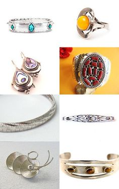 Silver Finds  by Leora Pevear on Etsy--Pinned with TreasuryPin.com