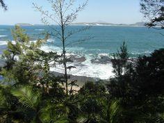 Vue de la terrasse sur l'océan à l'hotel Talinjoo