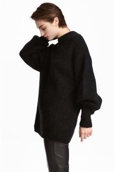 Knitted jumper - Black - Ladies   H&M GB 1
