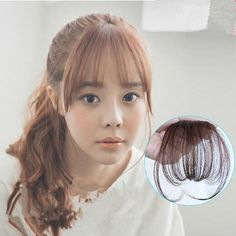 New Fashion Natural Thin Mini Bang Clip In On Real Remy Hair Bangs Fringe Extensions Four Color Synthetic Hair For Women