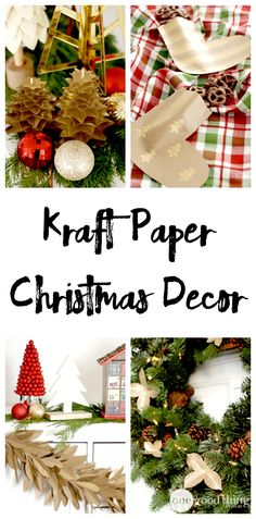 """Decorating with paper is such a great option for ANY holiday! It's inexpensive, it's easy to work with, and you can change it up a million different ways! I'm especially a sucker for all things """"kraft"""" paper and I think you'll agree!"""