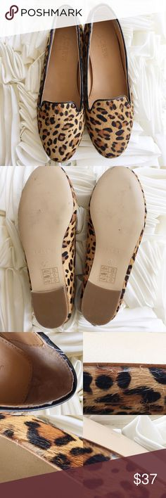 J. Crew Factory Leopard Calf Hair Cora Loafers Take a walk on the wild side in these leopard print calf hair flats 😎  Pre-owned with minimal signs of wear + some manufacturer imperfections near sole (pictured) | No trades J. Crew Factory Shoes Flats & Loafers